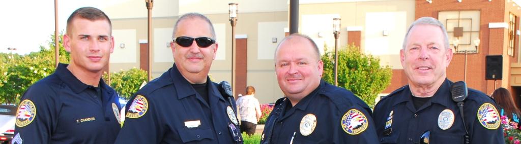 Sgt. Chandler, Res. Officer Bussell, Res. Officer Potts, & Res. Sgt. Martin