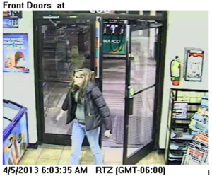 Female Suspect Entering Mapco