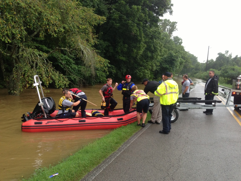 WEMA Water Rescuers getting into Rescue Boat