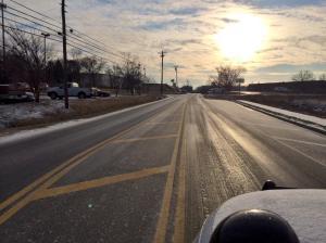 E. Division St Ice around 7:55 a.m.