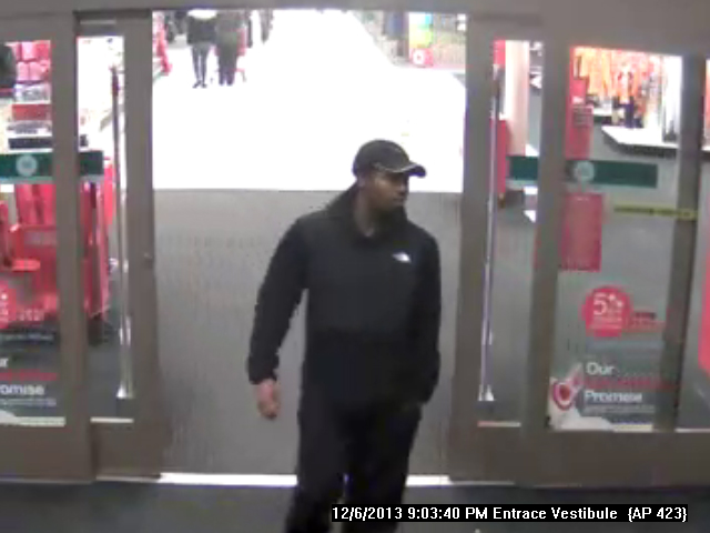 Suspect Entering Target - Close Up