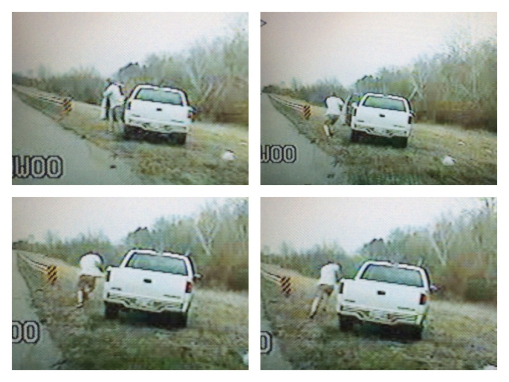 Suspect Bailing From Truck