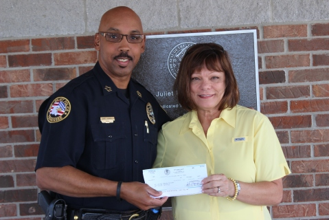 Chief James Hambrick and Linda McClanahan- Director of Mt. Juliet Senior Center