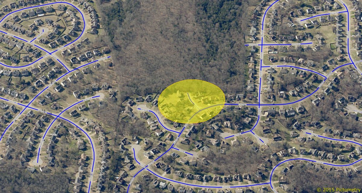 Location of Incident in the Hickory Hills Neighborhood