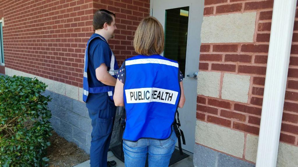Members from the TN Department of Health Going Door-to-Door Today